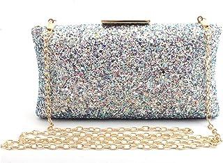 Clutch Handbag Sequin Symphony Crossbody Bag Dinner Champagne Shoulder Bags Shining Silver Wallet Dress Cosmetic Bag Woman Gold Pocket (19 X 5 X 9cm)