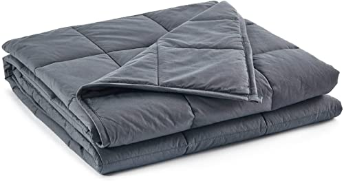 RelaxBlanket Kids Weighted Blanket | 40''x60'',5lbs | for Child Between 40-70 lbs | Premium Cotton Material with Glass Beads | Dark Grey