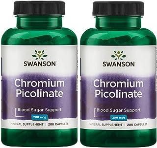Swanson Chromium Picolinate 200 mcg 200 Capsules 2 Pack