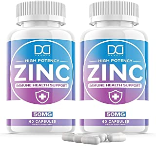 Zinc 50mg Vitamin Supplements for Immune Support System, Zinc Picolinate for Adults Kids - Zinc Pills Offer Powerful Alter...
