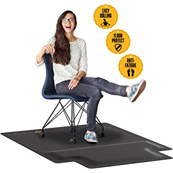 Amazon.com: Office Chair Mat with Anti Fatigue Cushioned Foam ...