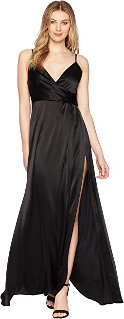 Satin Back Crepe Slip Dress