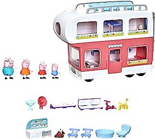 Peppa Pig Peppa's Adventures camper van familie Pig kleuterspeelgoed, ombouwbaar voertuig, speelt geluiden en muziek, gesc...