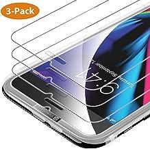 Syncwire 3-Pezzi Pellicola Protettiva in Vetro Temperato per iPhone 8/ 7/ 6s/ 6, Vetrino per iPhone con cstrumento di installazione facile [alta trasparenza, assenza di bolle, anti-impronta digitale]
