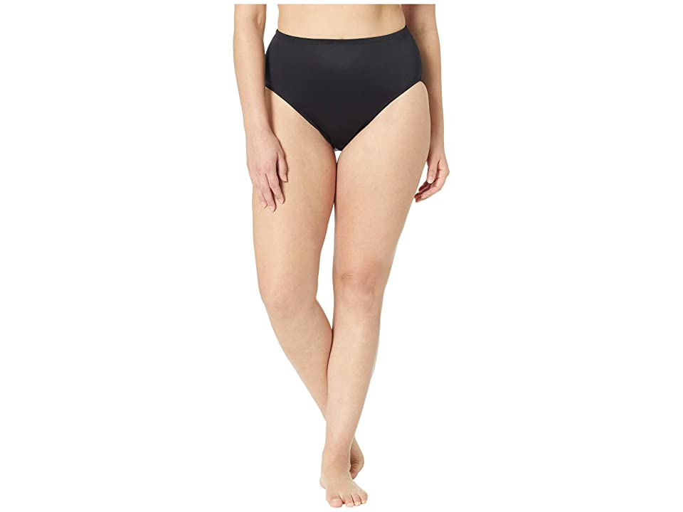 Miraclesuit Solid 19 Basic Bikini Brief Bottom (Black) Women