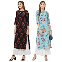 80% Off on GoSriKi Women's Multicolor Kurta Pack of 02 Starts from Rs. 259