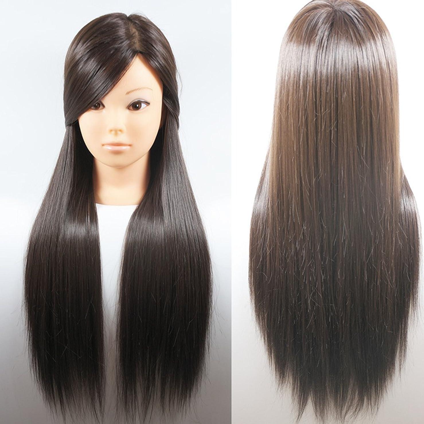 寛容なエンドテーブルかすれたヘアメイク実践トレーニング美容マネキンヘッド100%人工毛ーブロンドヘア66センチ