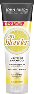 John Frieda 22465 Sheer Blonde Go Blonder Shampoo, 8.3 Ounce Gradual Lightening Shampoo, with Citrus and Chamomile, Featuring our BlondMend Technology