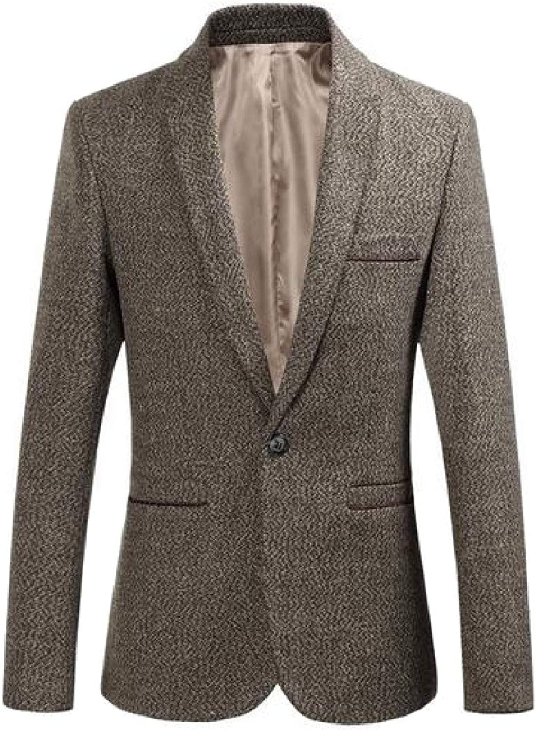 45fd2b0a13a4 TaoNice Mens Mens Mens Plus Size Career Lapel One Button Business Blazer  Coat 0658be