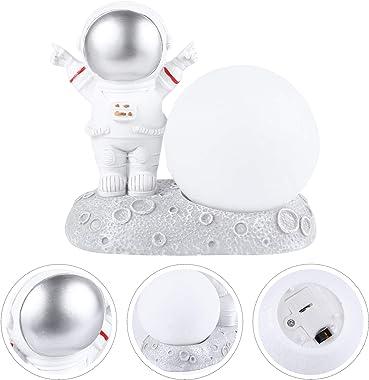 PRETYZOOM Lumière Astronaute USB Nuit pour Astronaute Hommes Trappe Lampe de Lecture Gadgets Enfants-Lampe de Nuit en Résine