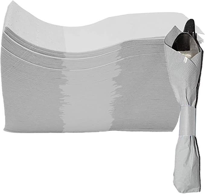 Box of 1000 Elegant Disposable Napkin Bands Pre-Cut 1.5 X 4.5 Inch Tiger Chef 1000-Pack Red Self-Sealing Paper Napkin Bands