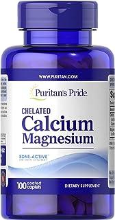 Puritan's Pride Calcium Magnesium Chelated 500 mg/250 mg 100 caplets