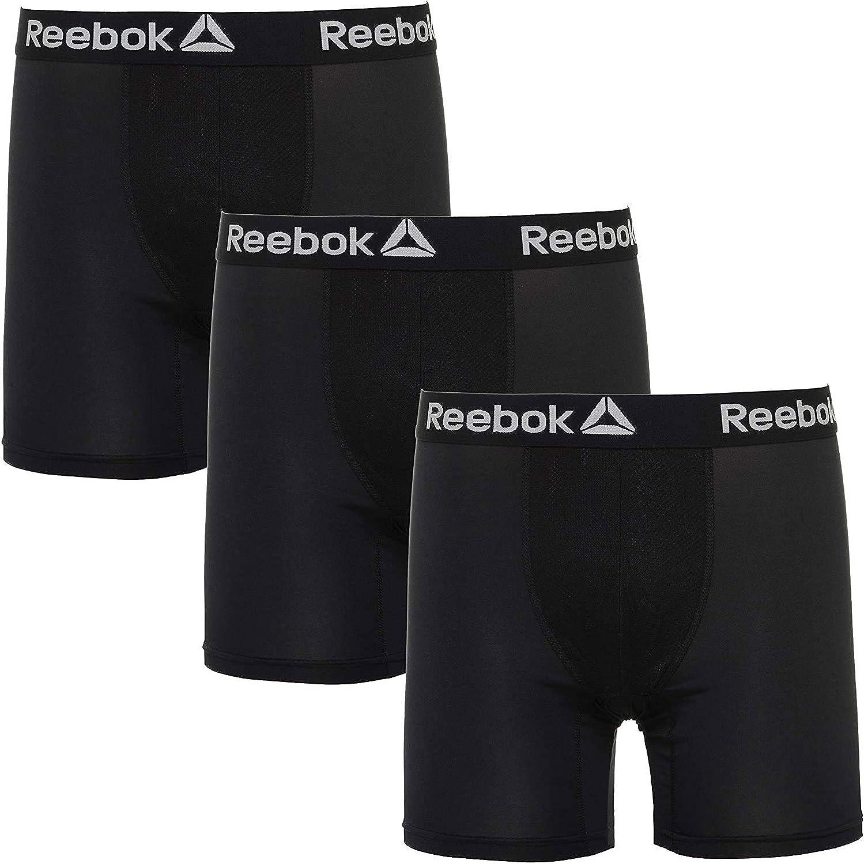 REEBOK Men's 3 Pack Performance Boxer Briefs