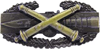 Field Artillery Combat Action Badge US Army FA CAB Military ANTIQUE Insignia Pin