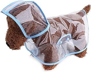 ZoonPark® Impermeable para perro estilo poncho, para perros y cachorro, mascotas, ligero impermeable Teddy, transparente, de plástico, chubasquero para perro pequeño o mediano