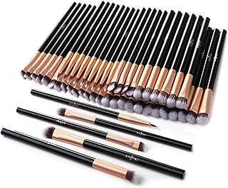 50pcs Eye Makeup Brush - Anjou 5pcs Eye Makeup Brushes X 10 Set – 2 Eye Blending Brush, 2 Eyeshadow Brush, 1 Eyeliner Brush Included in Each Set – 5 Essential Eye Brushes for Your Flawless Look