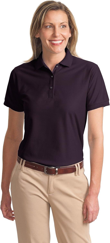 Ladies Silk Touch Sport Shirt, Color: Eggplant