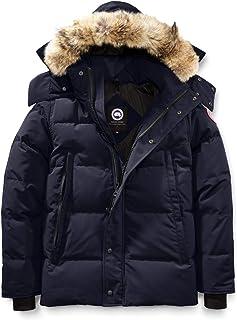 [カナダグース] CANADA GOOSE Men`s Wyndham Slim Fit Genuine Coyote Fur Trim Down Jacket メンズパーカー [Admiral Blue] [並行輸入品]