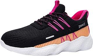 Fenlern Zapatillas de Seguridad Mujer Ligeras Zapatos de Seguridad Trabajo Punta de Acero Calzado de Seguridad con Colchón...