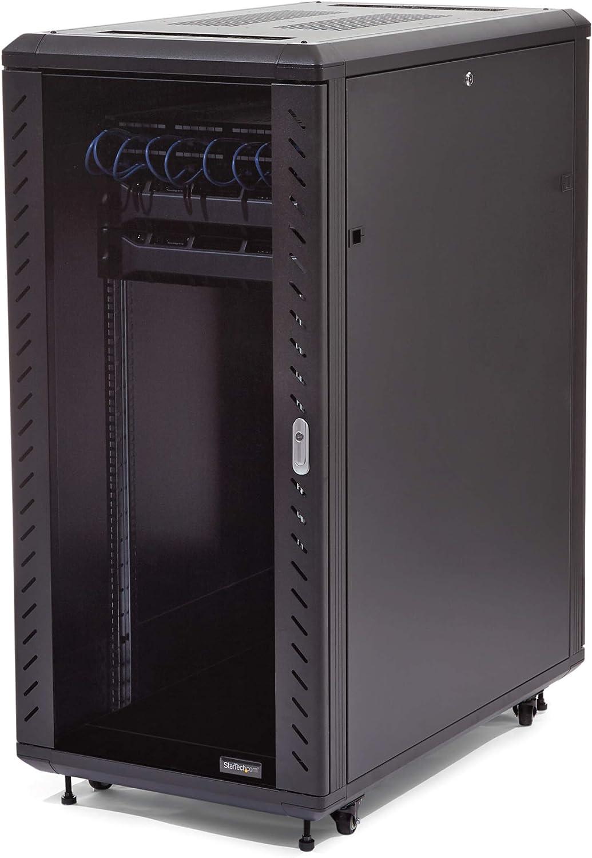 StarTech.com 25U Network Server Rack Cabinet on Wheels for 19