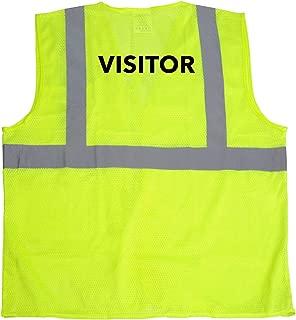 JORESTECH High Visibility Custom Heat Transfer Printed Reflective Safety Hi Vis Vest (2 XL to 3 XL, Visitor)