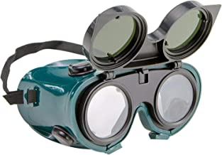 yotijar Óculos de Segurança para Soldador de Soldagem Óculos de Proteção Lentes Verde Escura Flip Up