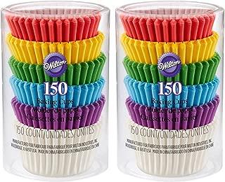 2-Pack - Wilton 415-5171 - 150ct Rainbow Mini Cupcake Liners per Pack