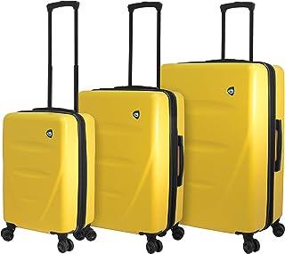 Mia Toro Italy Fassa Hardside Spinner Luggage 3 Piece Set, Yellow, One Size
