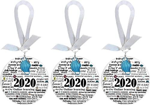 2021 OPTIMISTIC Christmas Quarantine Ornament with Silk Ribbon - Christmas Tree Decorations, 2020 Events outlet online sale Commemorative Ornament, Xmas Tree Hanging Ornaments Home Holiday Décor, Ceramic high quality Ornament online sale