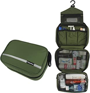 Travelling Toiletry Bag, Dopobo Portable Hanging Water-Resistant Wash Bag for Travelling, Business Trip, Camping (deep green)