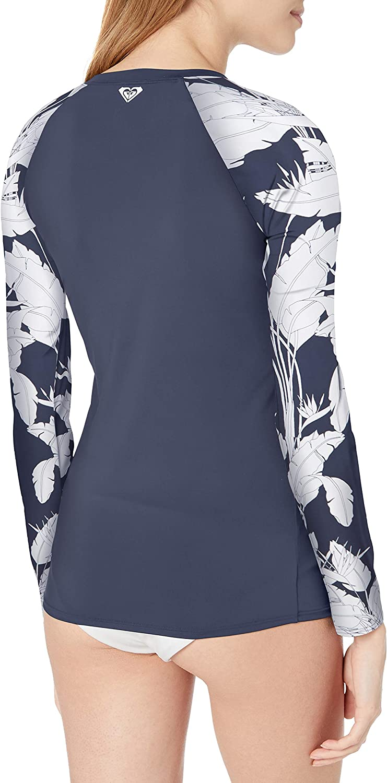 ROXY Womens Long Sleeve Zip-up Fashion Rashguard Rash Guard Shirt