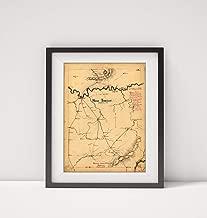 1863 Map Title: Middle Tennessee Subject: Civil War History, Manuscript Middle Nashville Region Nash