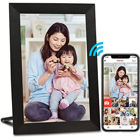 AEEZO デジタルフォトフレーム WiFi対応 9インチ 16GB内蔵 1280*800解像度 タッチパネル IPS広視野角 写真/動画/USBメモリ対応/壁に取り付け可能/カレンダー/アラーム機能付き 無料アプリ プレゼント用 日本語取扱説明書