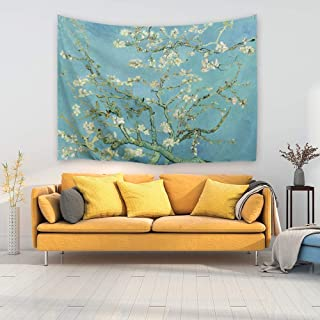 PROCIDA Home Wall Hanging Nature Art Polyester Fabric Van Gogh Theme Tapestry, Wall Decor for Dorm Room, Bedroom, Living Room, Nail Included - 80