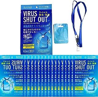 ウイルスシャットアウト空間滅菌カード首頁けウィルスブロッカー滅菌ウイルス対策ウイルス除去花粉症消毒消臭注意事項持ち運びタイプグッズネック (130個)