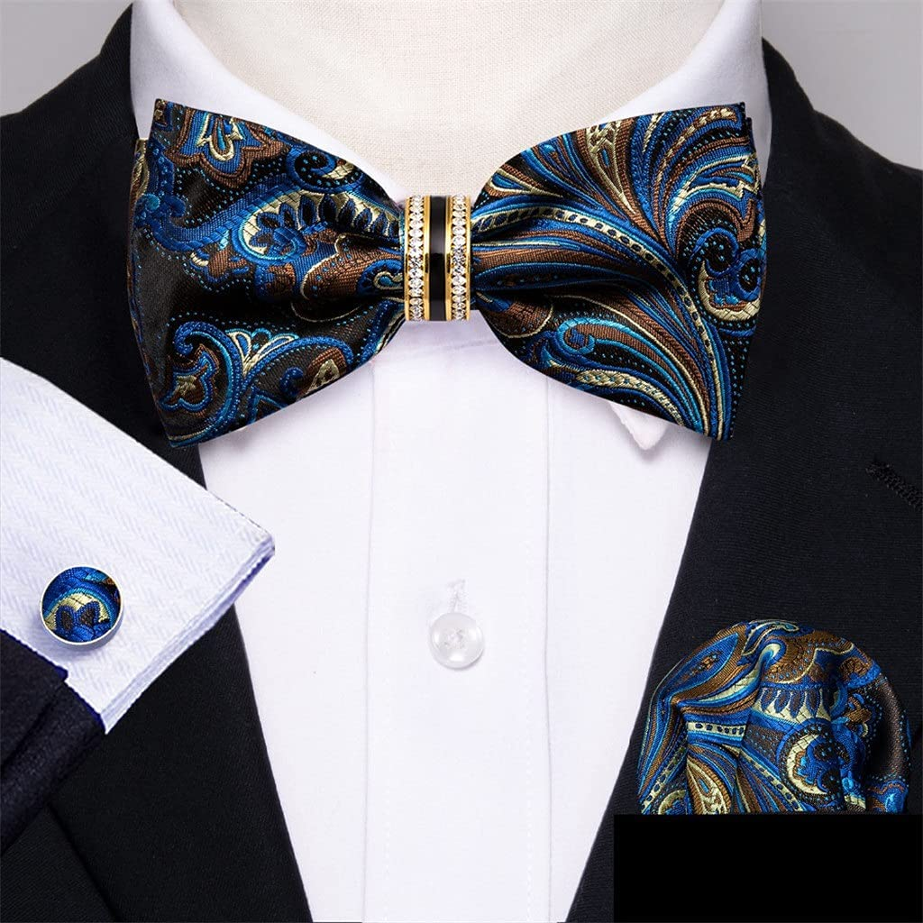 LQGSYT Silk Pre-Bow Tie for Limited time cheap sale Wedding Accessorie Shipping included Adjustable Men Bu