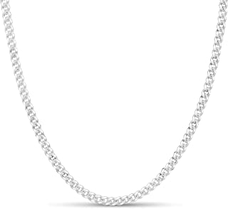 Sterling Silver 3.5mm Curb Link Chain for Men or Women Made in Italy by KEZEF Creations