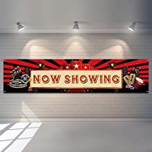 Now Showing Banner Movie Night Party Red Carpet Backdrop Hollywood Party Decorations Movie Backdrop Birthday Party Banner Baby Shower Birthday Party Supplies