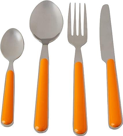 Brunner Delice - Cubertería de Camping (16 Unidades), Color Naranja