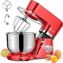 میکسر ایستاده ، میکسر برقی POWWA 7.5 Quart ، 6 1 Speed 660W Tilt-Head Kitchen Mixers مواد غذایی با ویسک ، قلاب خمیر ، مخلوط کن