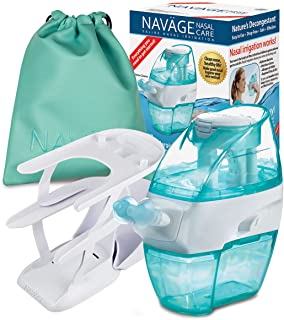 Navage Nasal Irrigation Deluxe Bundle: Naväge Nose Cleaner, 48 SaltPod Capsules, Countertop Caddy, and Travel Case. 162.75...
