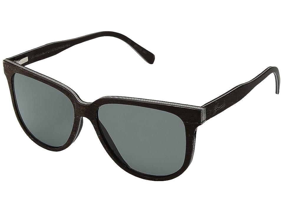 Shwood Mckenzie Wood Sunglasses Polarized (Dark Walnut/Grey Polarized) Polarized Sport Sunglasses
