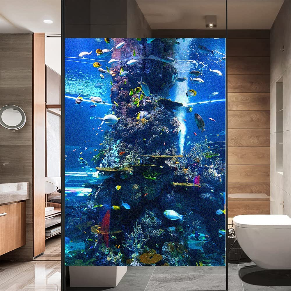 Window Film Privacy Frosted Underwater Popular product S Adhesive Decorative Non Max 43% OFF