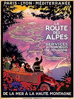 La Route des Alpes Services Automobiles de Tourisme de la Mer à la Haute Montagne TRAVEL PRINT - measures 24