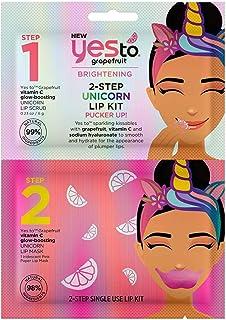 Yes To Grapefruit NEW Vitamin C Glow-Boosting 2-Step Unicorn Lip Kit