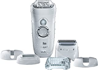 Braun Silk-épil 7 7-561 - Wet & Dry Cordless Electric Hair Removal Epilator, Ladies' Electric Shaver, and Bikini Trimmer f...