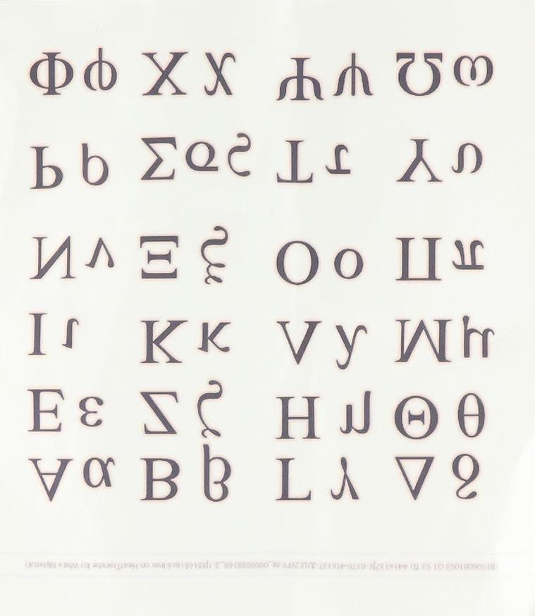 3dRose ht_38168_2 Greek Alphabet Iron on Heat Transfer Paper, 6 by 6-Inch tkelqxcpfzbfw093