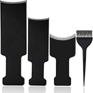 4 Pieces balayage kit highlighting board hair color paddle highlighting brush balayage board comb for Hair Dye and Salon U...