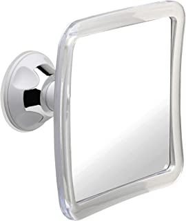 Mirrorvana Fogless Shower Mirror for Fog Free Shaving with Upgraded Suction-Cup, Shatterproof Surface and 360° Swivel, 6.3 x 6.3 Inch