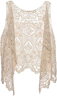 Jastie Open Stitch Cardigan Boho Hippie Butterfly Crochet...